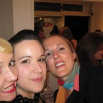 Tenille, Bernadette & Jo at 10 Girls. 10 Colours. opening