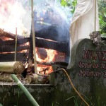 Cremation ceremony in Lombok,