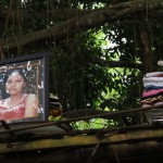 Cremation ceremony in Lombok, picture of deceased person