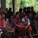 Cremation ceremony in Lombok, crowd watching